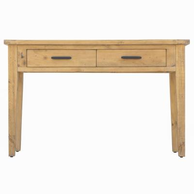 Ashford 30 in. Brown Reclaimed Rectangle Wood Console Table with 2-Drawers