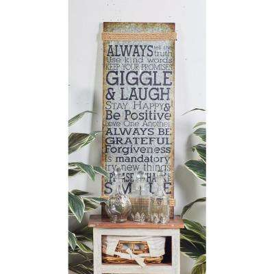 Iron Brown Inspirational Sayings Metal Work