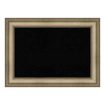 Mezzanine Antique Silver Narrow Framed Black Cork Memo Board