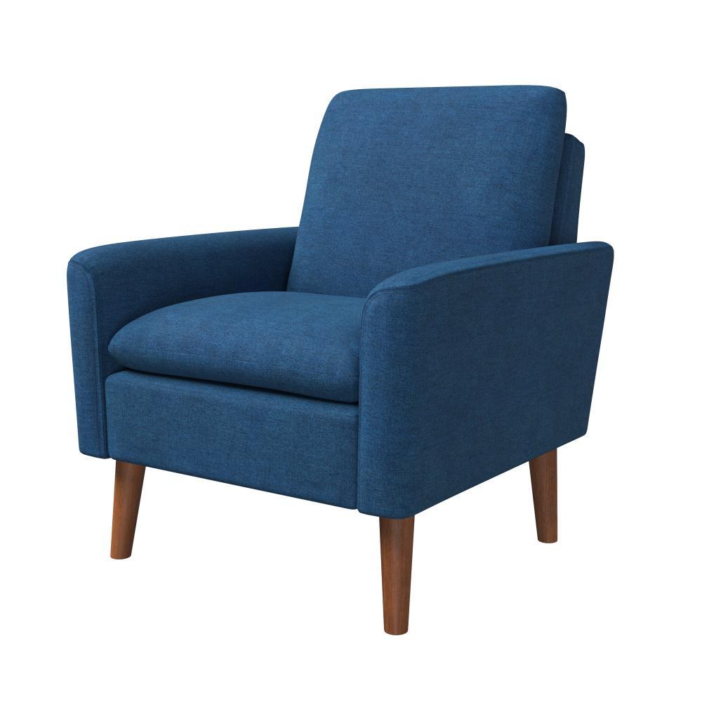 Bari Cadet Blue Modern Arm Chair