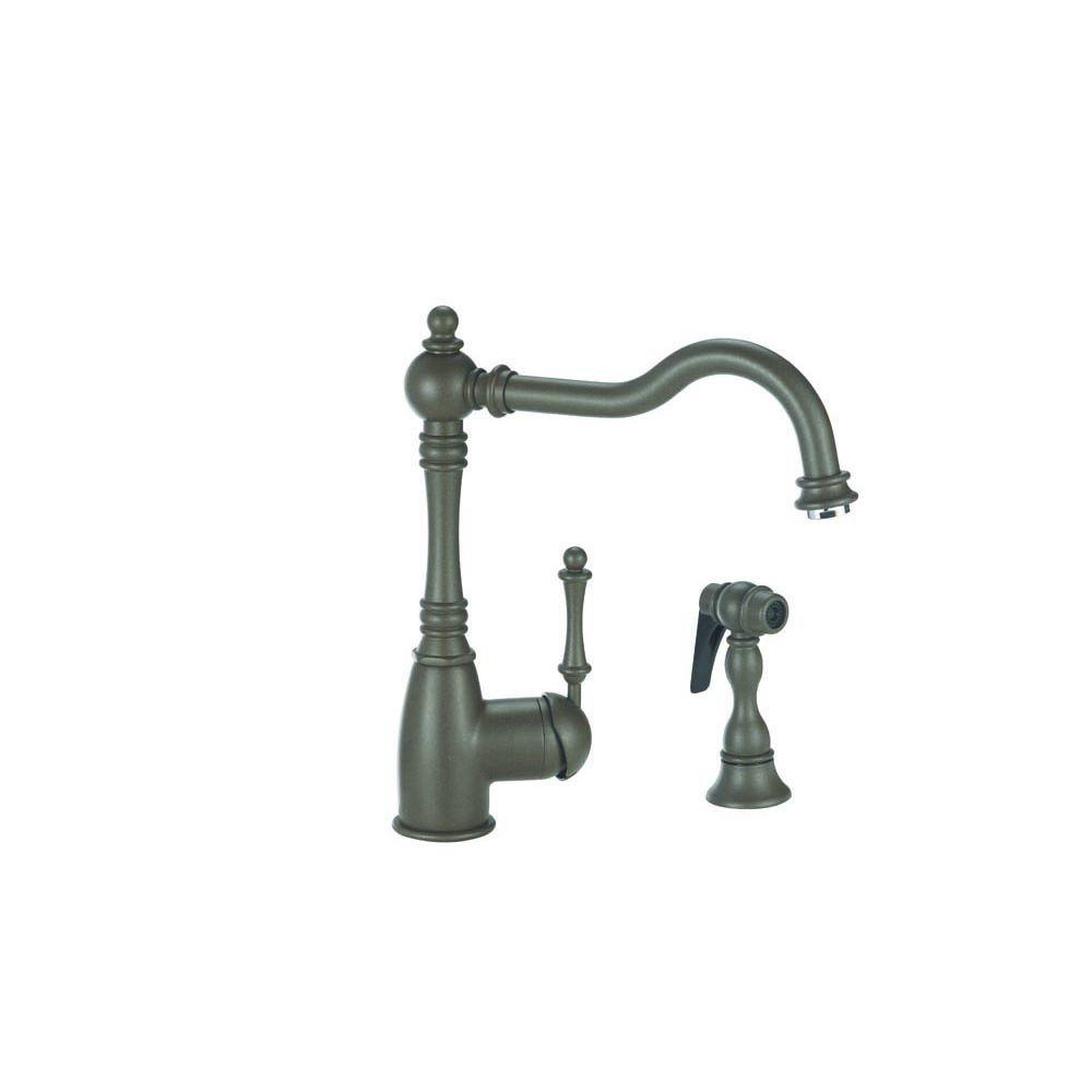 Blanco Grace Single-Handle Standard Kitchen Faucet with Side Sprayer in Cafe Brown