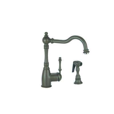 Grace Single-Handle Standard Kitchen Faucet with Side Sprayer in Cafe Brown