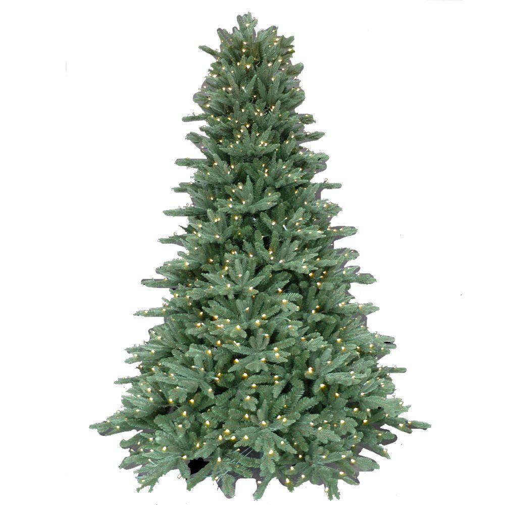 7.5 ft. Pre-Lit LED Natural Foxtail Fir Artificial Christmas Tree ...