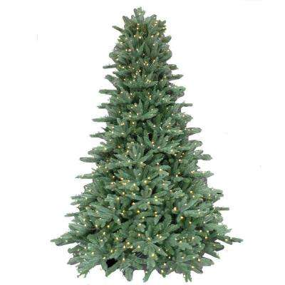 7.5 ft. Pre-Lit LED Natural Foxtail Fir Artificial Christmas Tree with Warm White Lights