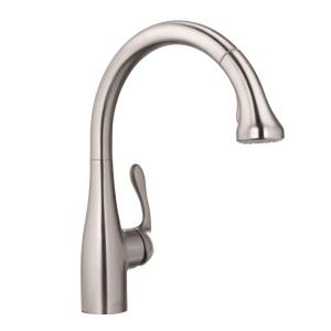 Hansgrohe Allegro E Single Handle Pull Out Sprayer Kitchen Faucet