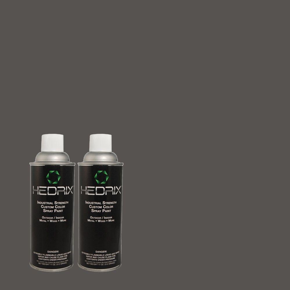 Hedrix 11 oz. Match of QE-56 Club Navy Low Lustre Custom Spray Paint (8-Pack)