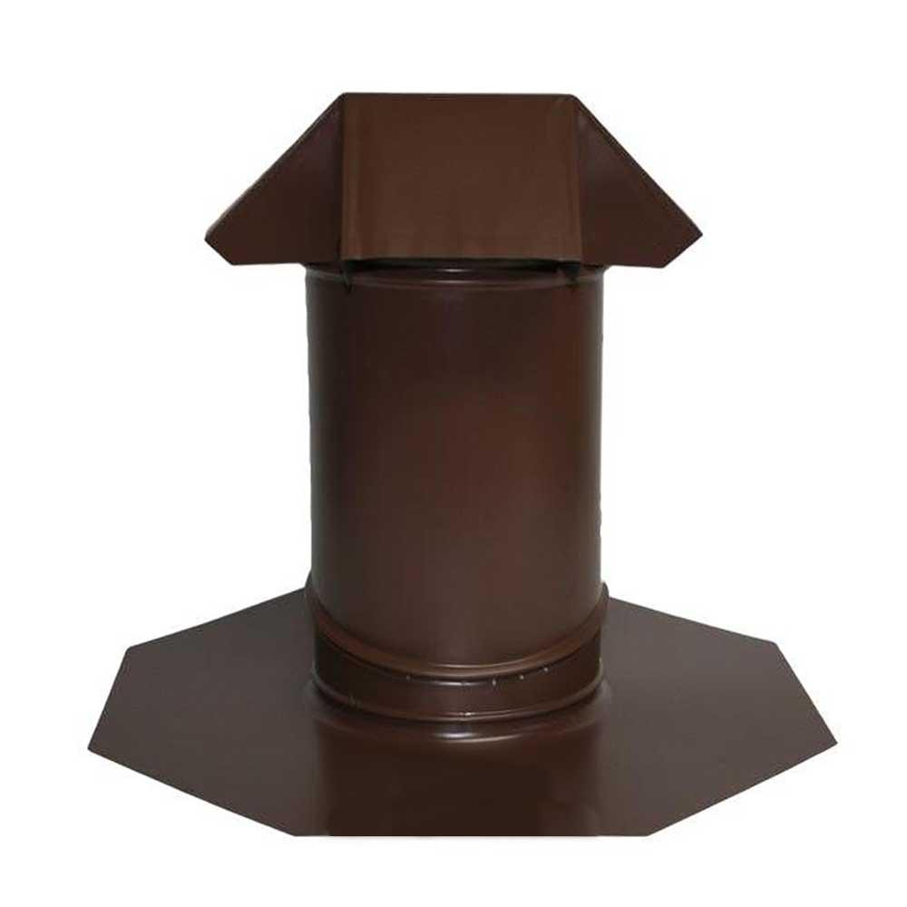 6 in. Adjustable Pitch Galvanized Steel Pipe Flashing in Brown