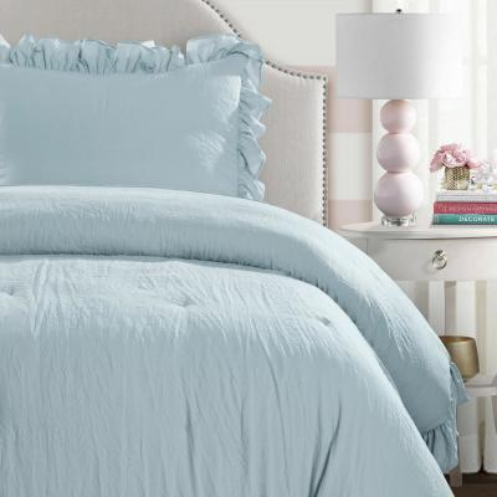 Reyna Comforter Lake Blue 2-Piece Twin XL Set