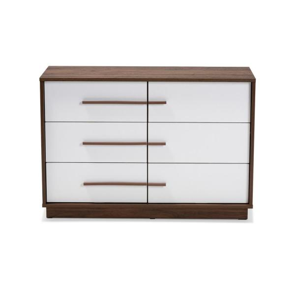 Baxton Studio Mette 6-Drawer White Dresser 157-9522-HD