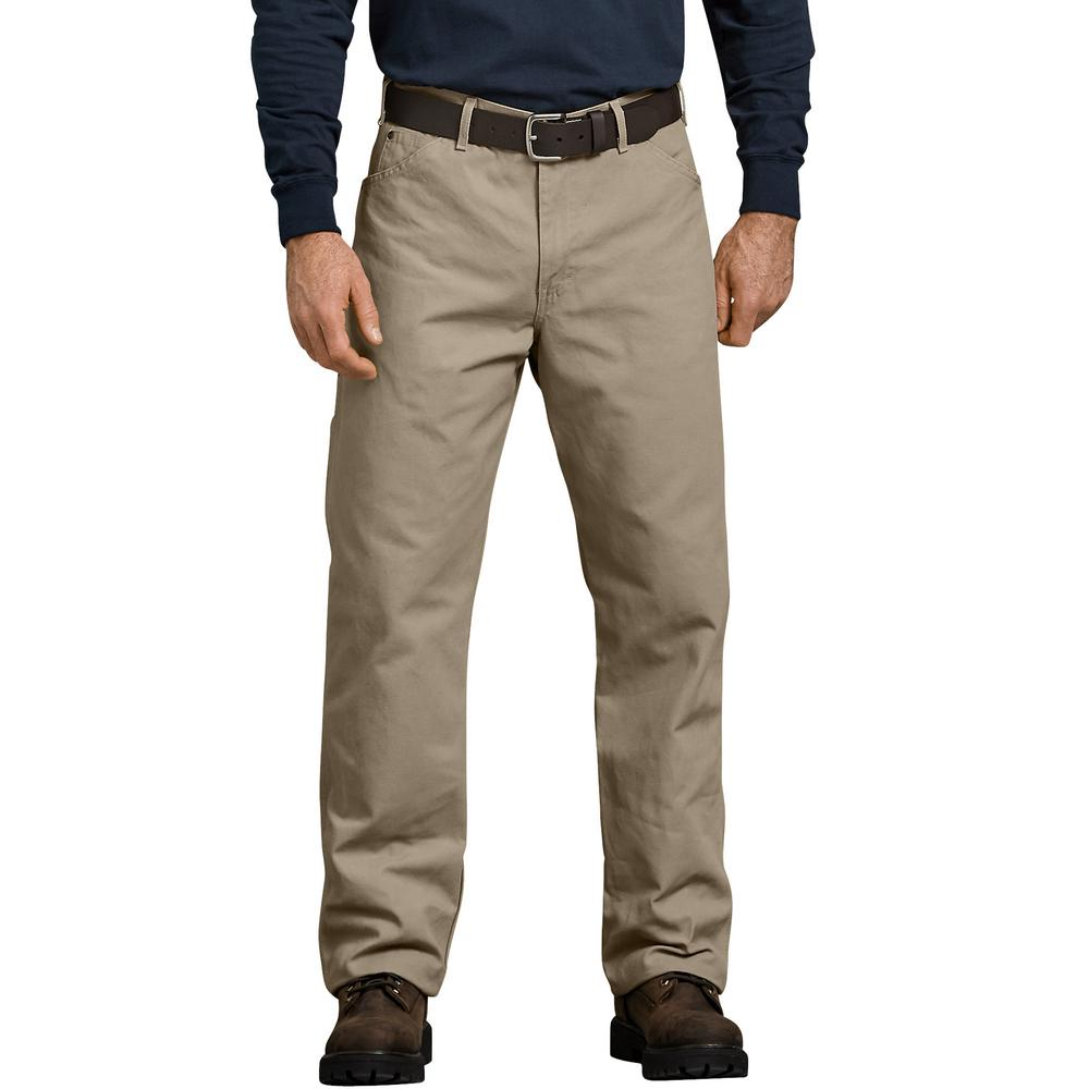 Dickies RINSED DESERT SAND Relaxed Fit Straight Leg Carpenter Duck Jeans 1939RDS