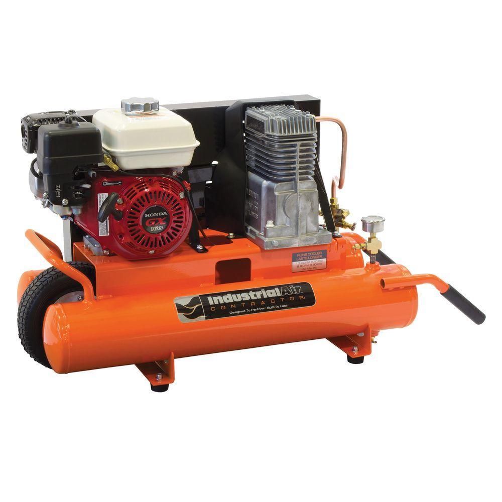 Industrial Air 8 Gal. Portable Gas-Powered Wheelbarrow Air Compressor