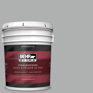 Behr Ultra 5 Gal 780f 4 Sparrow Flat Exterior Paint And Primer In One 485405 The Home Depot
