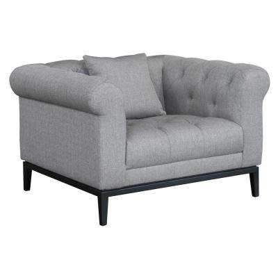 Theron Contemporary Grey Fabric Upholstered Accent Chair