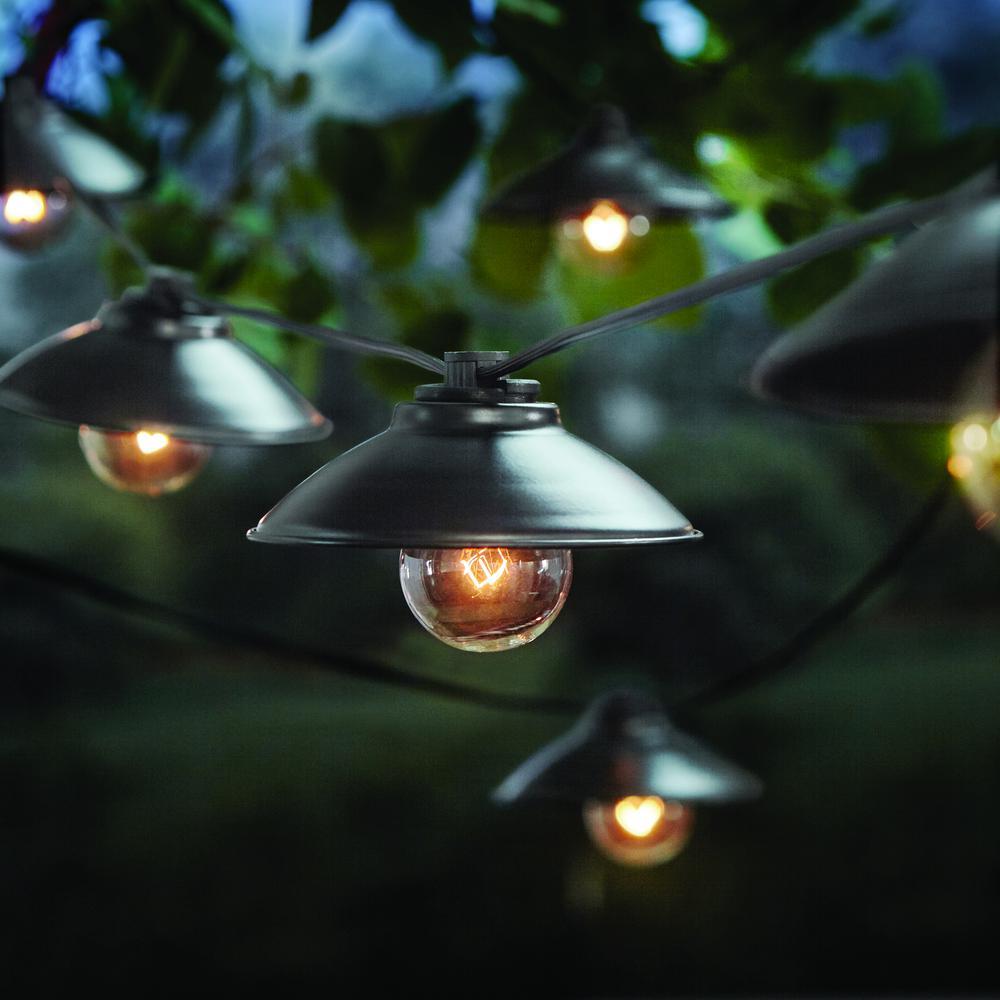 Outdoor/Indoor 11 ft. Line Voltage G40 Bulb Incandescent String Light (10-Heads)