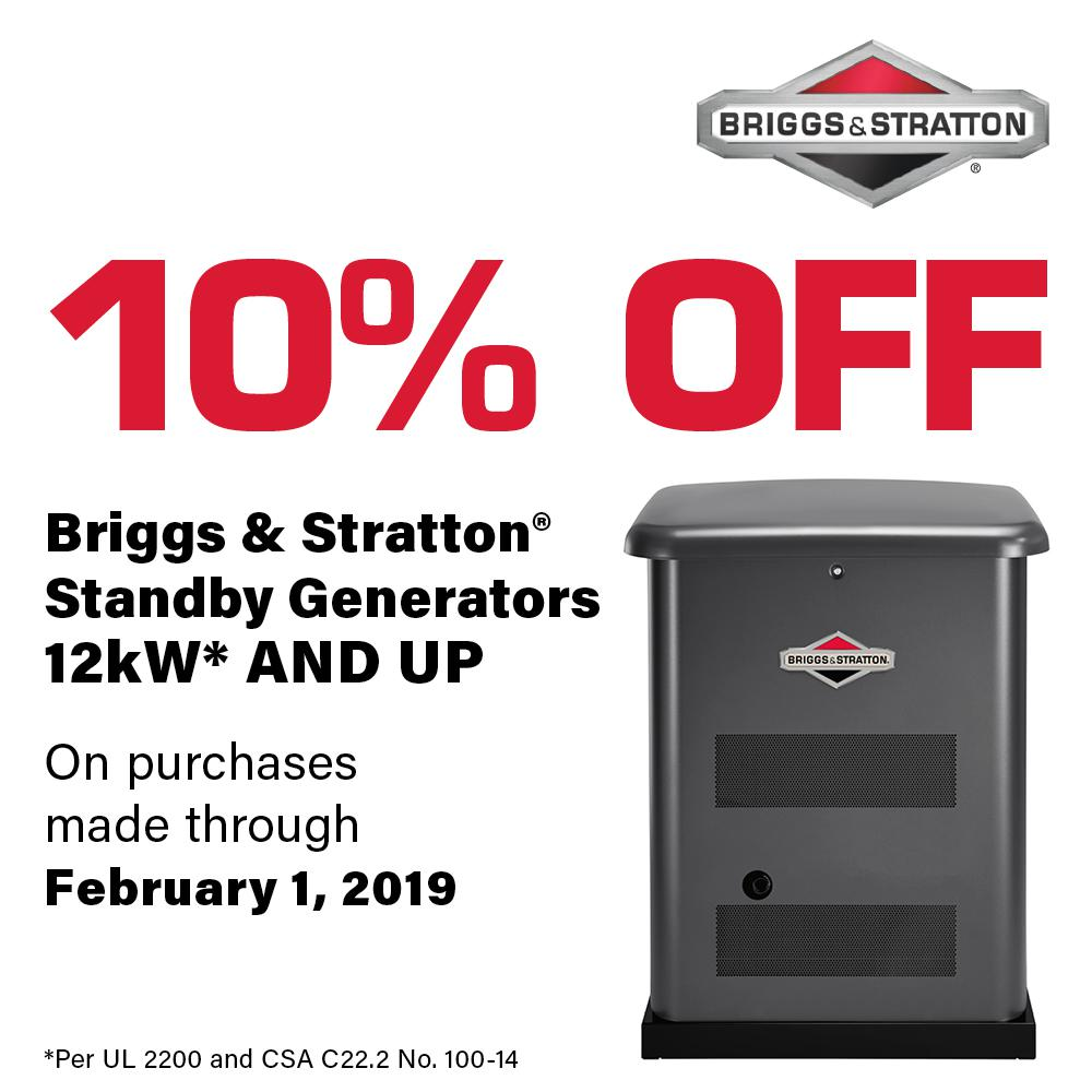 Briggs Stratton 12000 Watt Automatic Air Cooled Standby Generator Electric Fence Circuits Circuit Resource With 100 Amp 16