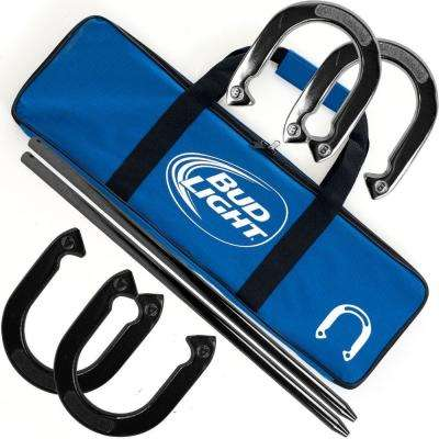 Bud Light Horseshoe Set with Carry Case