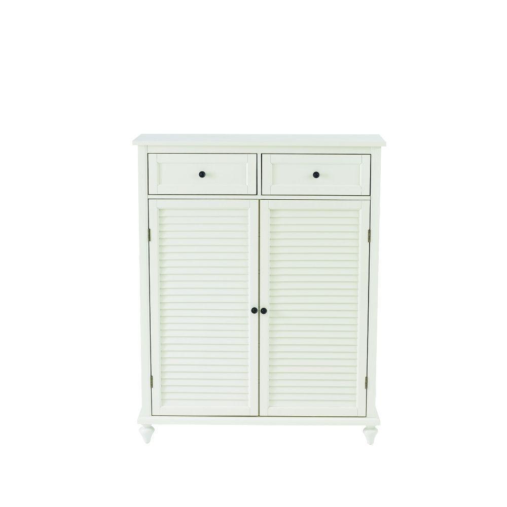 Beau Home Decorators Collection Hamilton Polar White 24 Pair Shoe Storage Cabinet