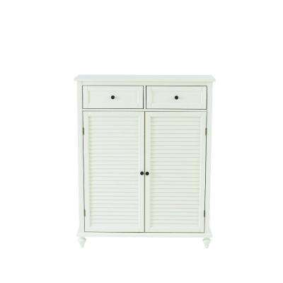 Hamilton Polar White 24-Pair Shoe Storage Cabinet