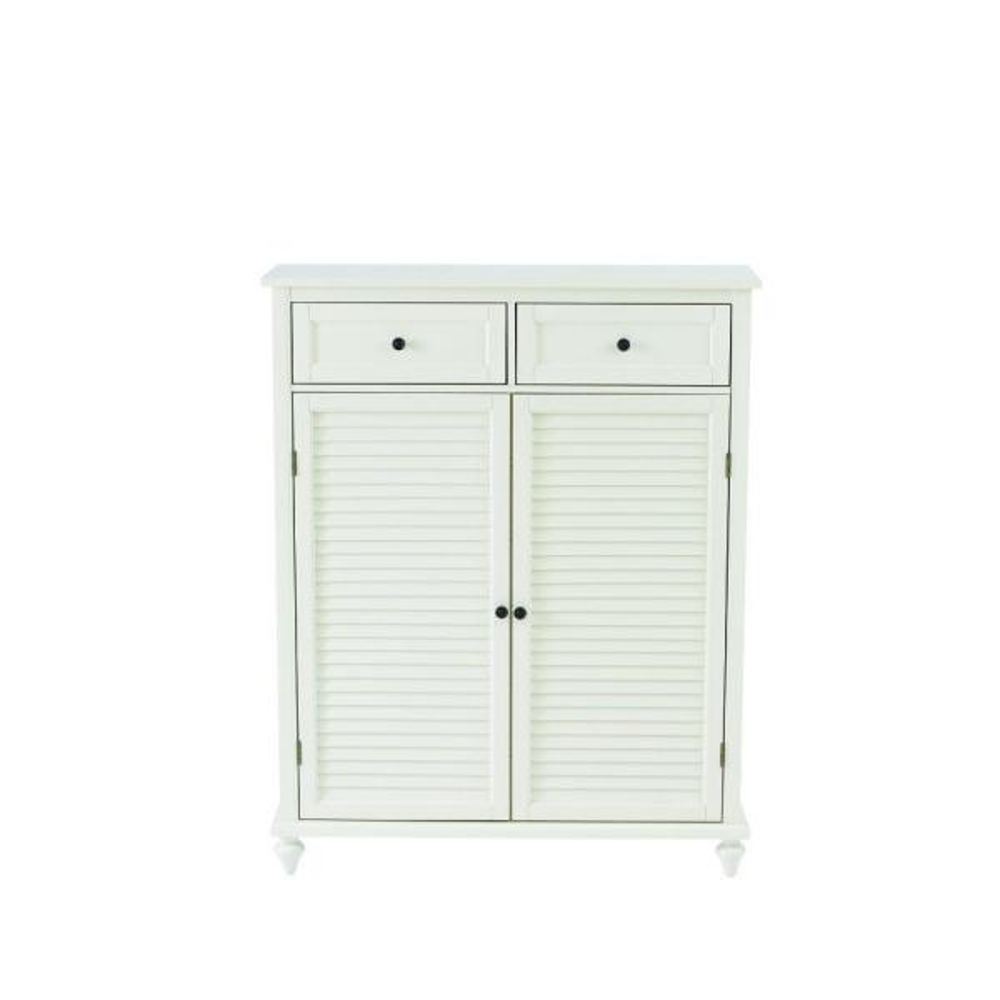 Home Decorators Collection Hamilton Polar White Shoe Storage Cabinet for 24 Shoes