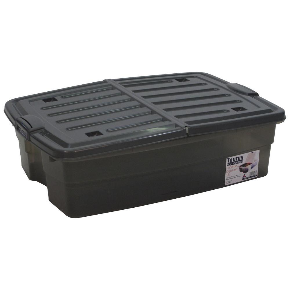 10 Gal. Underbed Storage Organizer Tote in Grey