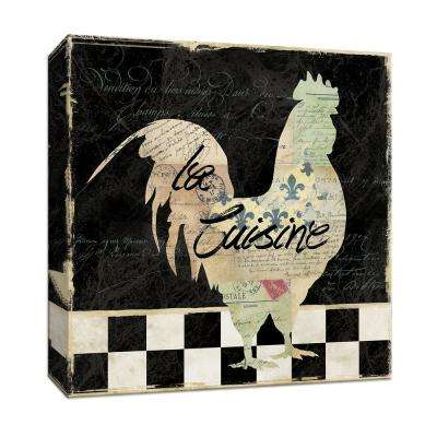 15 in. x 15 in. ''French Rooster'' Canvas Wall Art