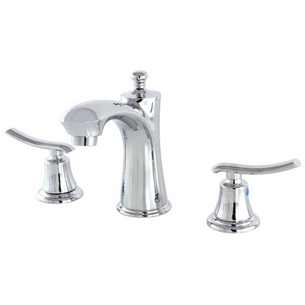 Beautiful Victorian Bathroom Faucet: Kingston Brass Victorian 8 In. Widespread 2-Handle High-Arc Bridge Bathroom Faucet In Polished