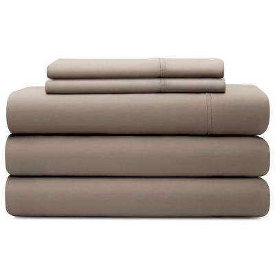 5-Piece Sandstone Tencel King Split Sheet Set