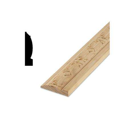 DM 1054EM 5/8 in. x 3-1/8 in. Southwestern Design Pattern Solid Pine Base Moulding