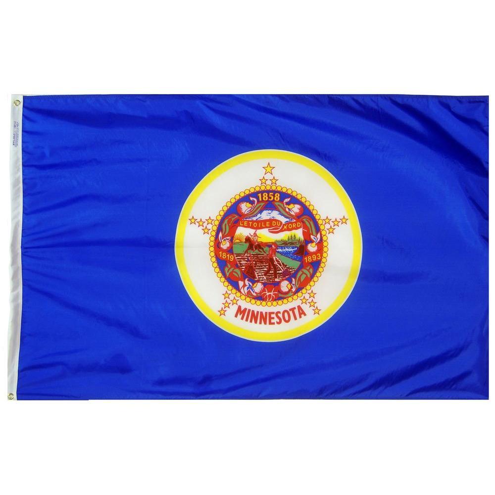 Annin Flagmakers 4 Ft X 6 Ft Minnesota State Flag 142770 The