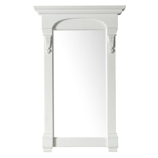 Brookfield 26 in. W x 41.3 in. H Framed Rectangle Bathroom Vanity Mirror in Bright White
