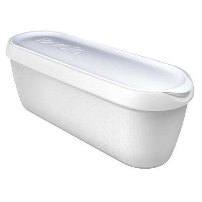 Glide-A-Scoop Ice Cream Tub, 2.5 Quart, Insulated, Airtight Reusable Container With Non-Slip Base, White