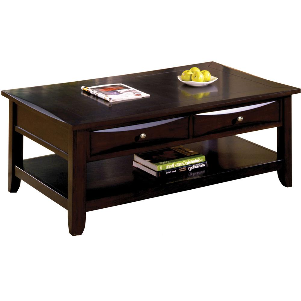 Furniture Of America Baldwin Espresso Coffee Table