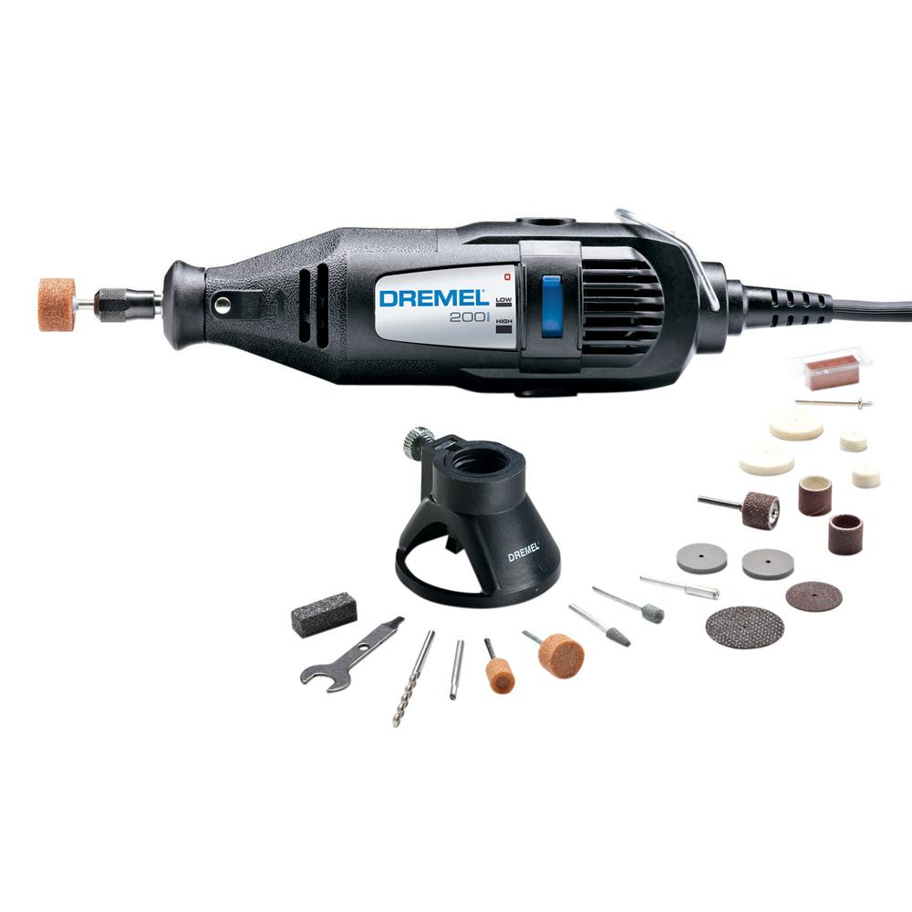 Dremel 200 Series 114 Amp Dual Speed Corded Rotary Tool Kit With 21 Accessories And 1
