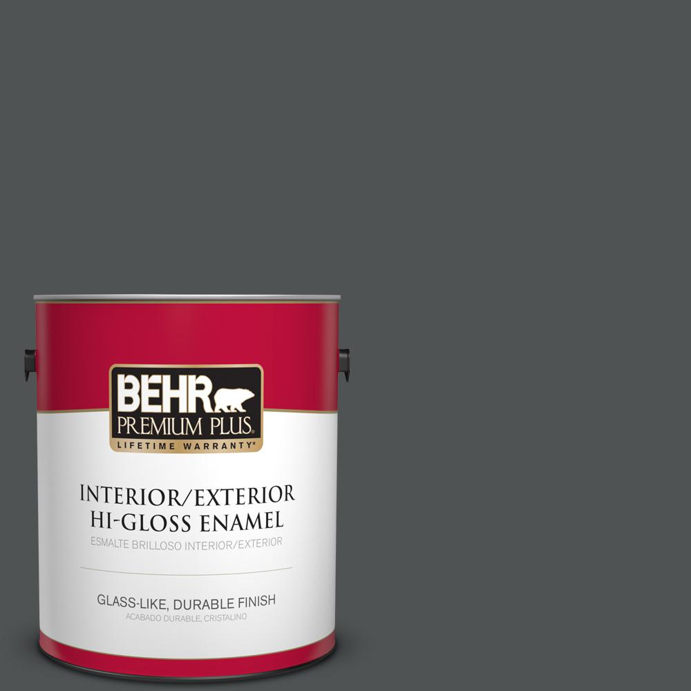 1 gal. #PPU25-01 Carbon Copy Hi-Gloss Enamel Interior/Exterior Paint