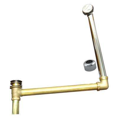 ABS/Brass Semi-Exposed Waste and Overflow with Tip-Toe Drain, Polished Chrome