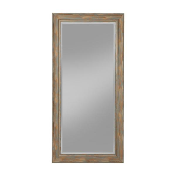 Oversized Blue Plastic Beveled Glass Full-Length Farmhouse Mirror (65 in. H X 31 in. W)
