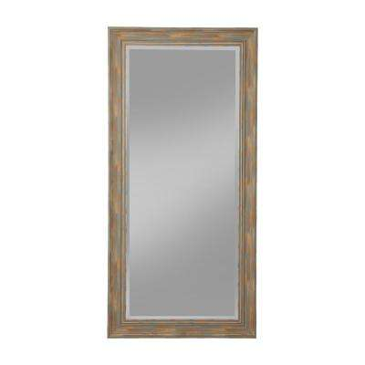 Farmhouse Antique Turquoise Full Length Leaner Mirror
