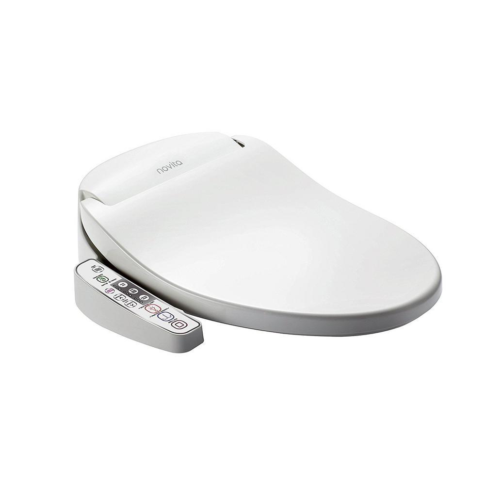 Novita Electric Bidet Seat for Elongated Toilets in White