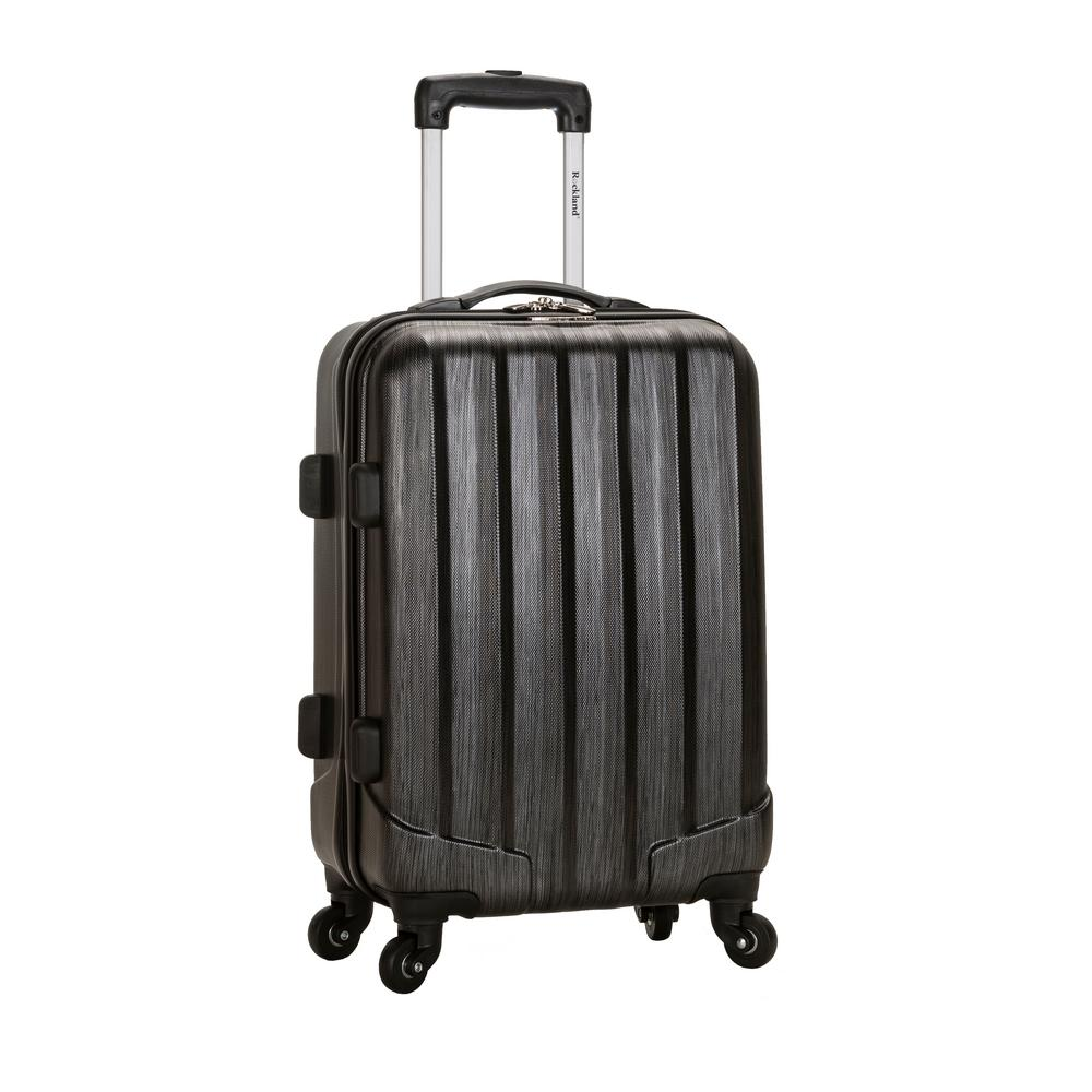 Metallic 20 in. Expandable Carry On Hardside Spinner Luggage, Metallic