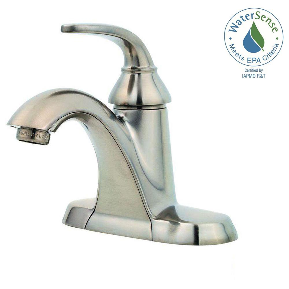 4 inch center bathroom faucet. Pasadena 4 Inch Centerset Single Handle Bathroom Faucet Brushed Nickel  Finish