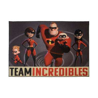 The Incredibles  4 ft. 6 in. x  6 ft. 6 in.  Indoor Juvenile  Area Rug