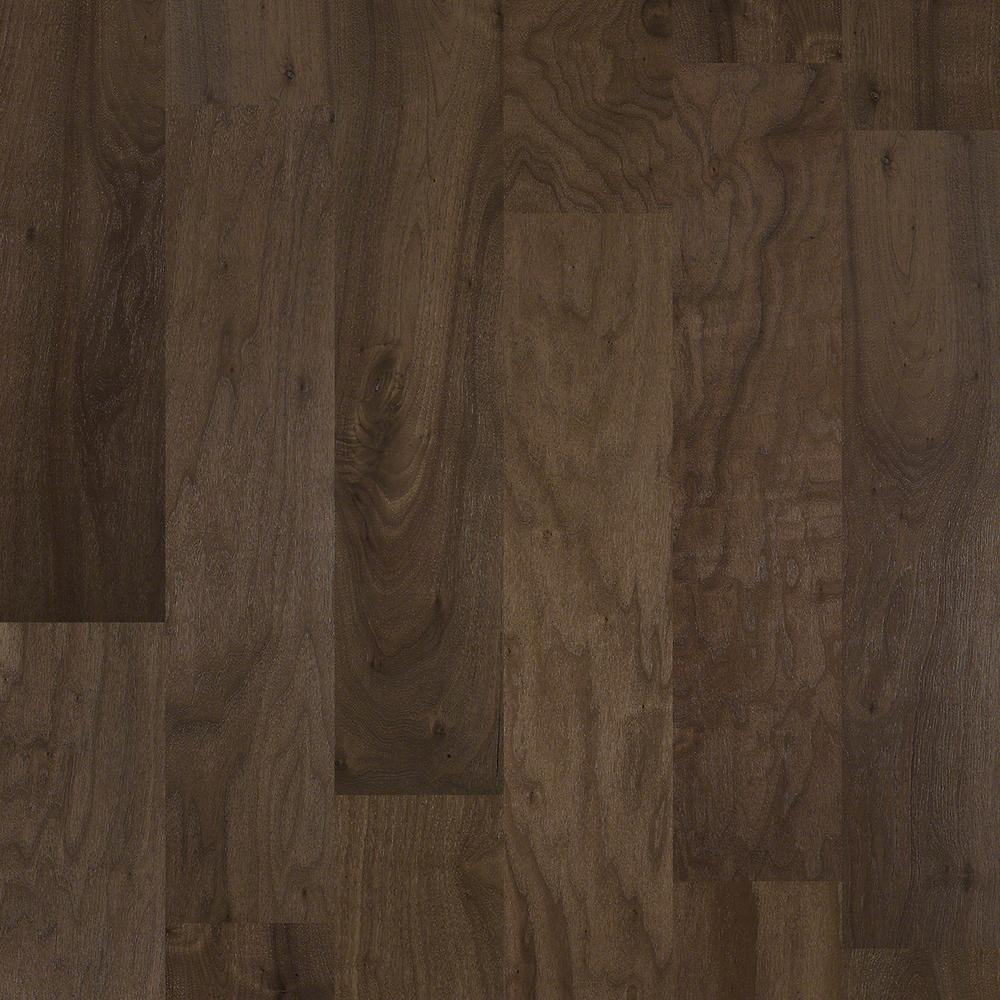 Take Home Sample - Major Event Walnut Mocha Engineered Click Hardwood Flooring - 9.25 in. x 8 in.