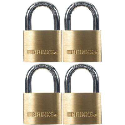 1-9/16 in. (40 mm) Solid Brass Keyed Lock (4-Pack)