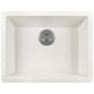 Dualmount Granite Composite 22 in. Single Bowl Kitchen Sink in White