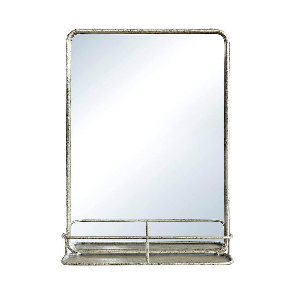 Medium Rectangle Antique Nickel Classic Mirror (27.5 in. H x 19.6 in. W)