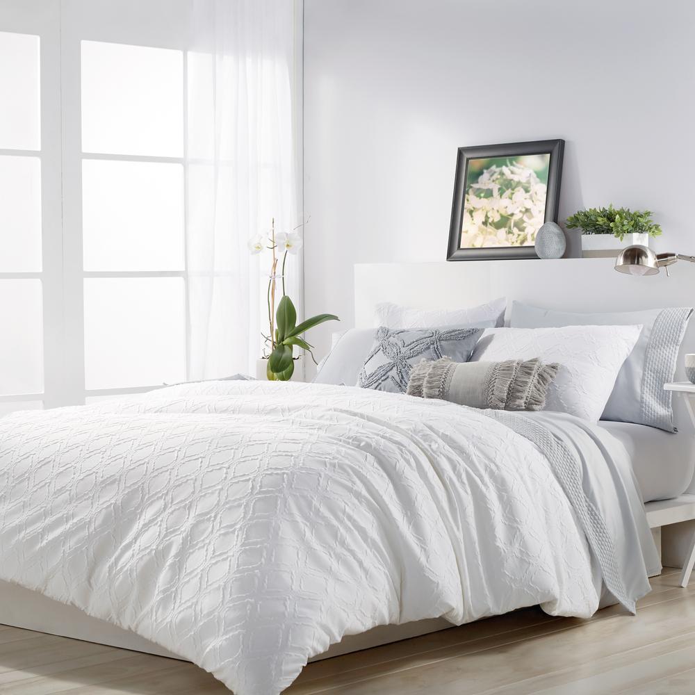 2-Piece White Twin Comforter Set