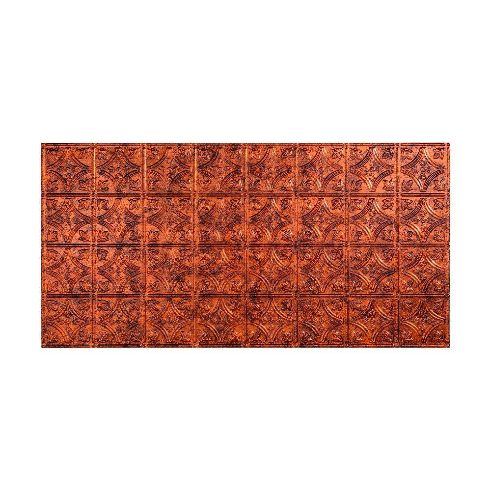 Fasade traditional 1 2 ft x 4 ft glue up ceiling tile in oil glue up ceiling tile in oil rubbed bronze g50 26 the home depot dailygadgetfo Image collections
