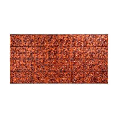 Traditional 1 - 2 ft. x 4 ft. Glue-up Ceiling Tile in Moonstone Copper