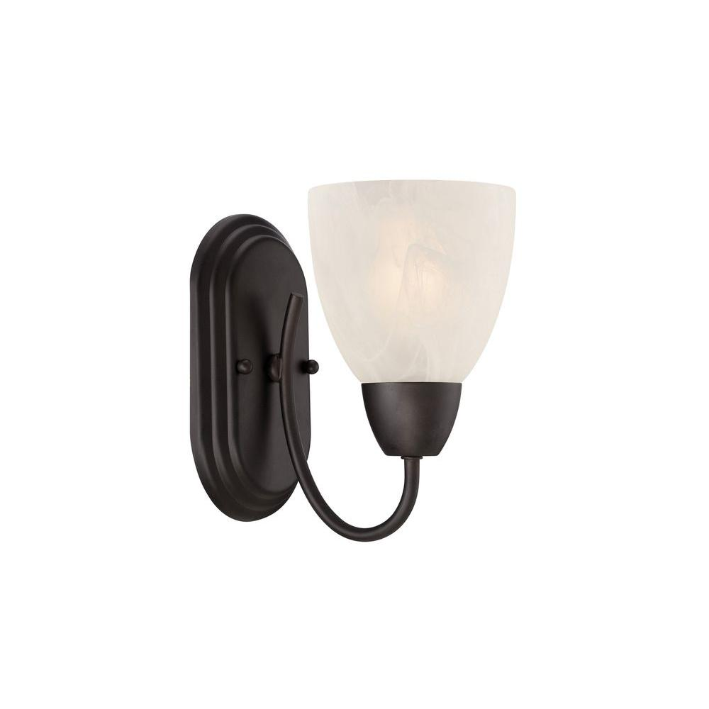 Torino 1 Light Oil Rubbed Bronze Wall Sconce
