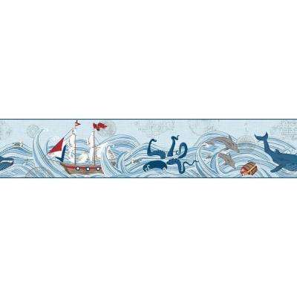 Waverly Kids Ships Ahoy Wallpaper Border